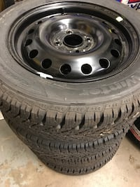 Brand new ford fiesta winter tires, rims and tire pressure sensors