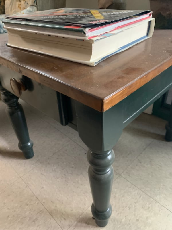 WOODEN SIDE TABLE WITH DRAWER – SPRINGDALE - $80 04a55710-e156-41cc-be81-52f9ca530efd