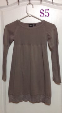 Mexx grey sweater dress:  kids girls  size 9-10