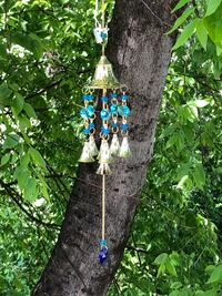 Chakra Colored Translucent Clear Blue Beads Wind Chime Sun Catcher
