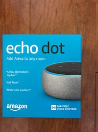 Brand new Amazon Echo Dot (3rd Gen) never been used (pick up only)