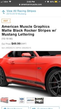 American Muscle Graphics Matte Black Rocker Stripes w/ Mustang Lettering screenshot Oakton, 22124