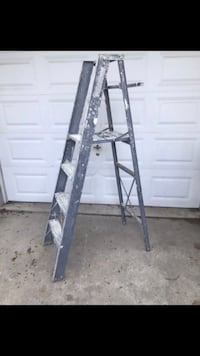 6' Platform Folding Ladder with Shelf.