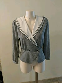 Vintage gray and white long-sleeved shirt Kitchener, N2N 2X3