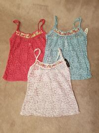 3 brand new  lace tops/lingerie