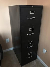 Black metal 4-drawer filing cabinet Ashburn, 20147