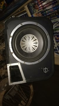 black and gray subwoofer speaker Edmonton, T5A