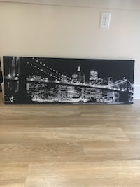 Long City Skyline Canvas Picture Houston, 77057