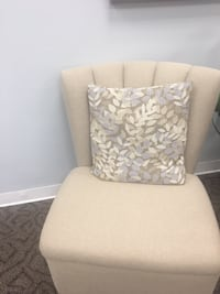 white and gray floral padded chair ROCKVILLE