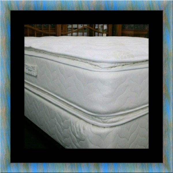 Twin mattress double pillow top with box spring