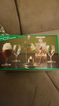 6 piece Irish coffee Set in box Brampton