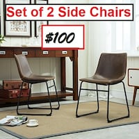 AJ- BRAND NEW- Bamey Vintage Side Chairs (Set of 2) Mississauga