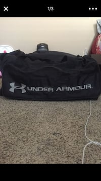 black and gray Under Armour sports bag screenshot