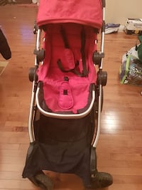 Red and black stroller