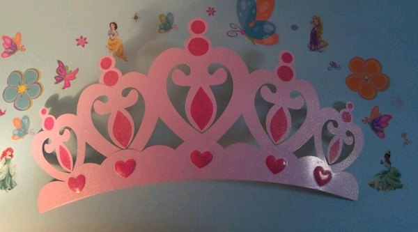 Large Princess Crown Wall Decor