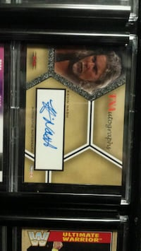Wwe's Kevin Nash signed card