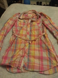 H&M Pink Plaid Top