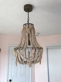 Wooden Chandelier Light Fixture , L2G 0N3