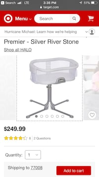 baby's white and gray bassinet screenshot San Antonio, 78218