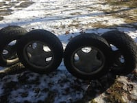 4 brand new studded tires CH-Noble 215/60R16 Only used it for two months. Anchorage, 99503