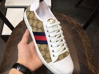 monogrammed brown and white Gucci low-top snekaer Washington, 20024