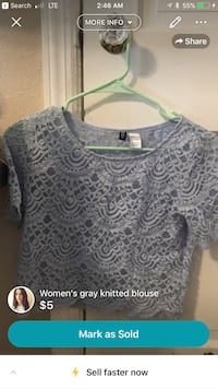 knitted gray floral blouse screenshot Fort Worth, 76109