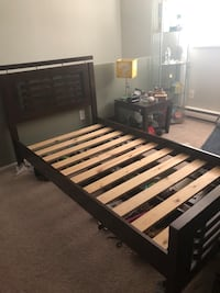 black and brown wooden bed frame Port Coquitlam, V3B
