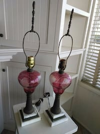 (2) Vintage Glass/Marble Lamps Newport Beach, 92661