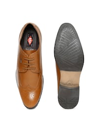 (Unused)SIZE 10 - NEW Lee Cooper Men Tan Brown Genuine Leather Semiformal Shoes Toronto