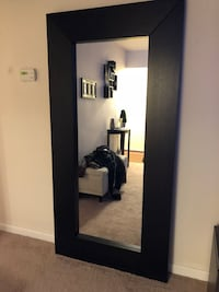 rectangular black wooden framed mirror Silver Spring, 20906