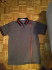 Grey and red Gucci polo shirt Toronto, M3C 1W7