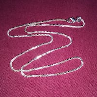 "New 925 Sterling silver 16"" box chain necklace Edmonton"