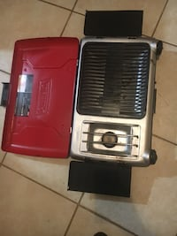 black and red electric grill
