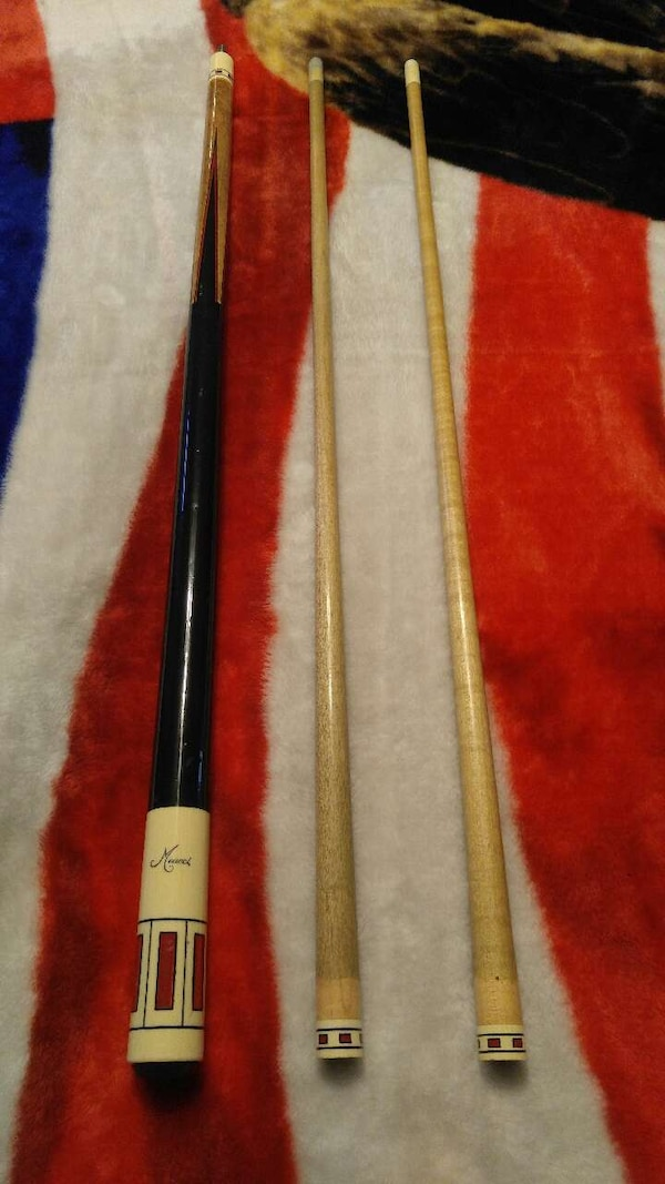 90s meucci pool cue with extra shaft