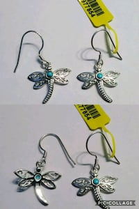 Sterling Silver Turquoise Dragonfly Earrings Beverly Hills, 34465