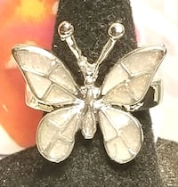 Was $30*Lab White Opal Filled Butterfly Set In 925 Amarillo, 79109