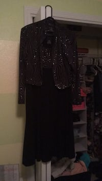 black and brown long-sleeved dress Milton, 32570