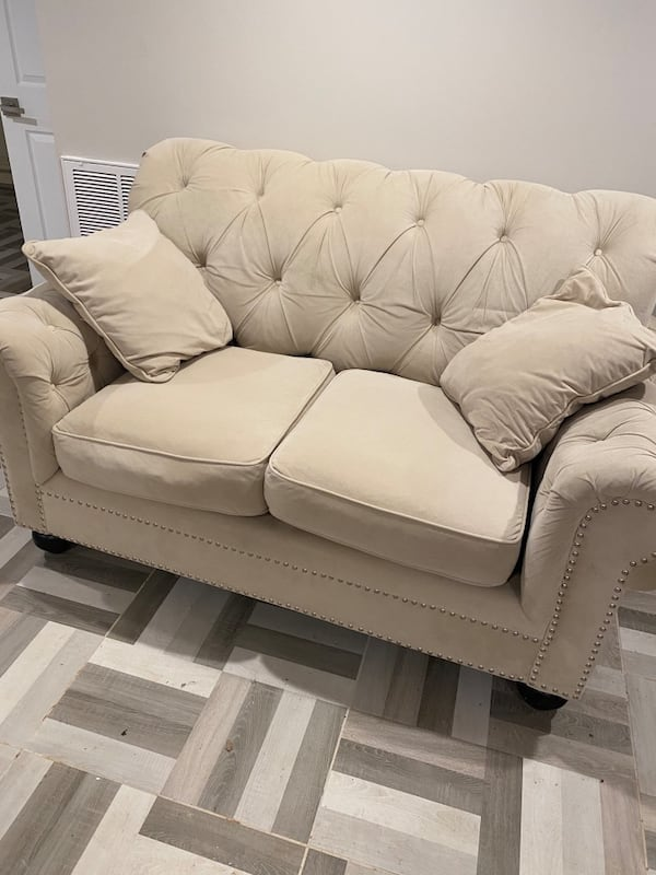 3 seat and 2 seat microfiber couches from Bobs Furniture. 8f9e6038-6446-493d-a595-c4da1a36b48d