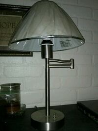 Silver small foldout lamp new shade Louisville, 40203