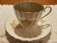 Susie Cooper Tea Cup & Saucer Set With An Internal Olive Green Colour For Sale!