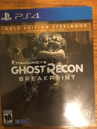 Ghost Recon Breakpoint *Gold Edition Steelbook* (ps4) originally $120 Oklahoma City, 73112