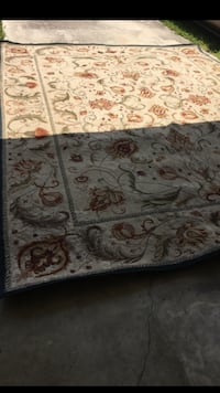 two gray-and-black floral area rugs North Port, 34287