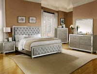 Cosette Silver Queen Panel Bed | B7680 Houston