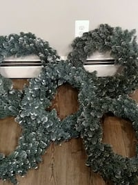 "Wreaths- 20"" artificial pine with snow - set of 5 Manassas, 20110"
