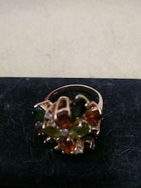 14k solid gold ring different gems stone Lancaster, 93534