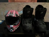 Kbc full face helmet and  the house moto x boots s