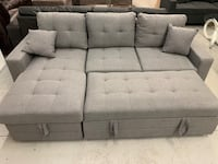 Brand new grey fabric pull out sectional sofa with storage chase  多伦多, M1S 1P5