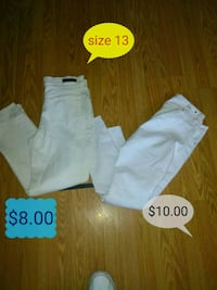 toddler's white and gray pants Las Cruces
