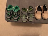 Three pairs of size 6 toddler boy shoes  Ashburn, 20147
