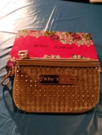 Betsy Johnson gold studded change and id purse Burnaby, V5G 4C7